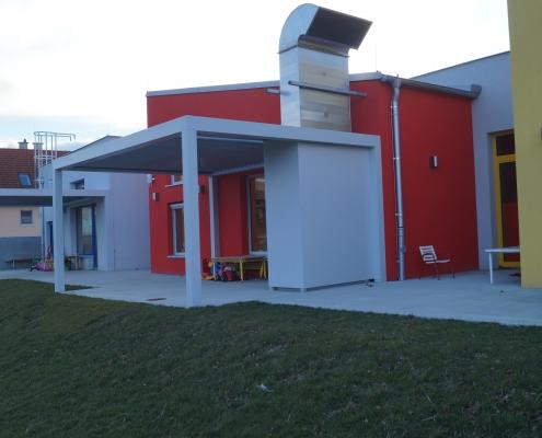 Kindergarten Gerasdorf Lüftungsverkleidung