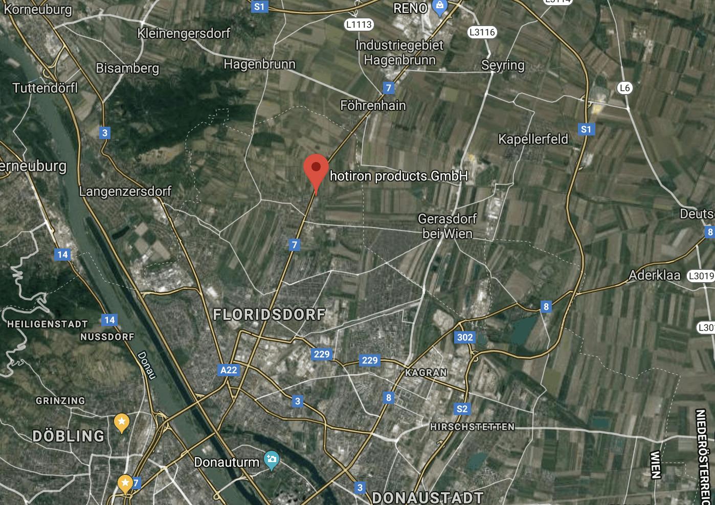 hotiron products GmbH on Google Maps